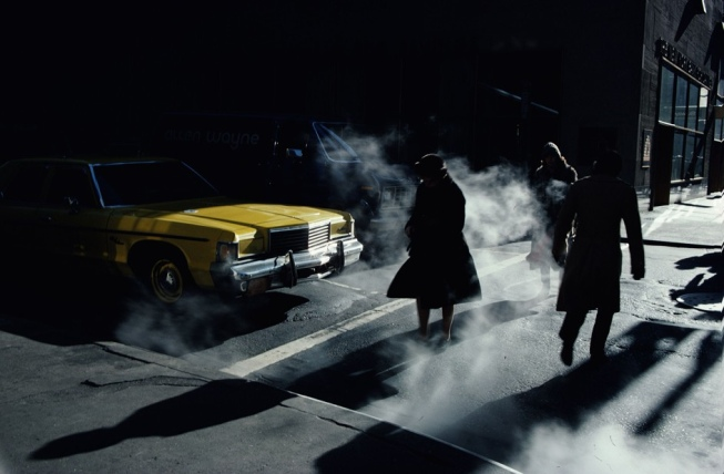 Ernst Haas, 1980, Pedestrians crossing a New York street